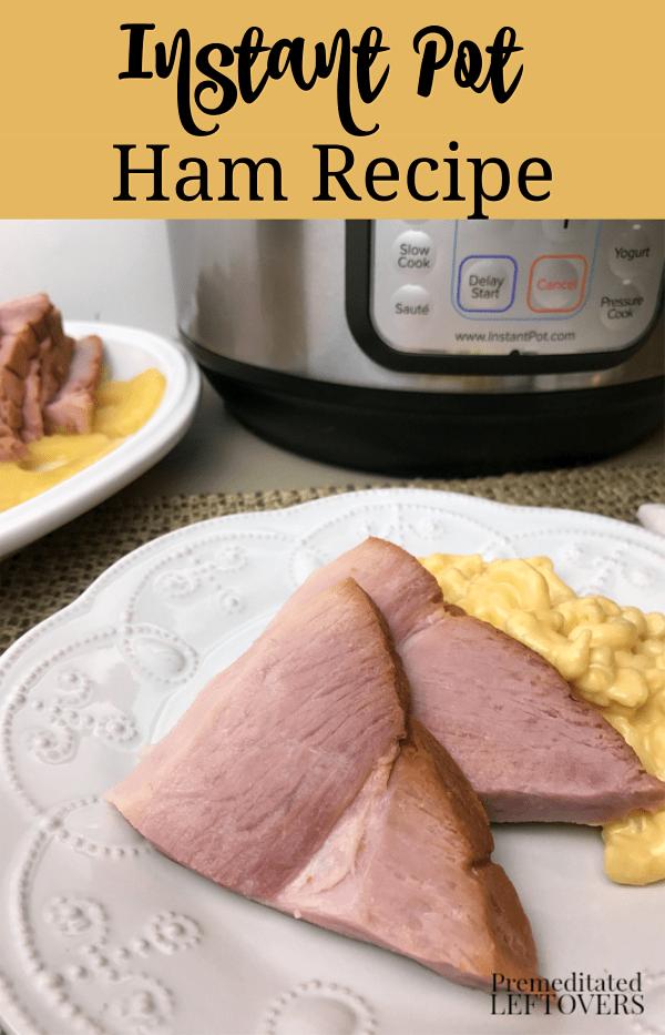 Instant pot ham recipe plated