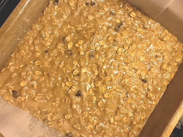 ready to bake peanut butter banana oatmeal bars