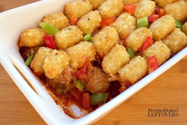 Easy Italian Meatball Tater Tot Casserole Recipe