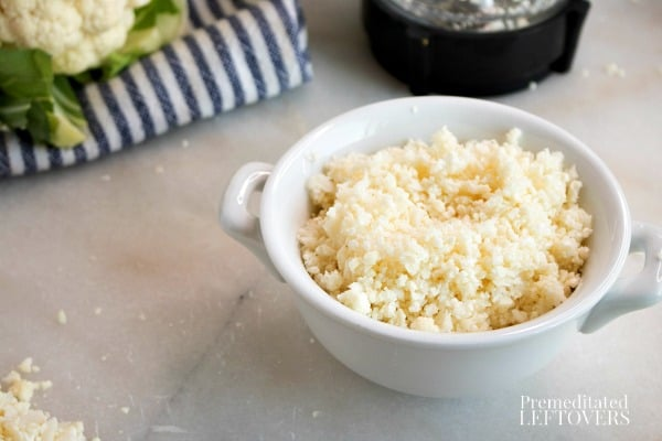 How to rice cauliflower in a blender