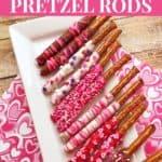 Valentine's Day Chocolate Covered Pretzel Rods Recipe