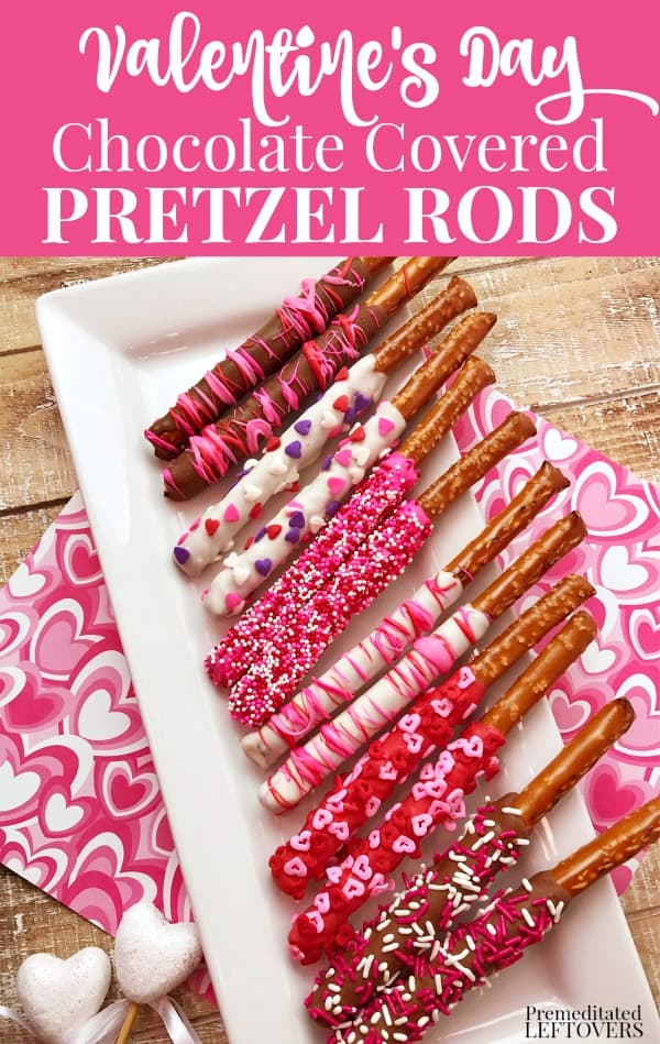 Valentine's Day Chocolate Covered Pretzels Recipe