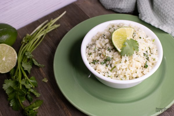 cilantro lime cauliflower rice recipe