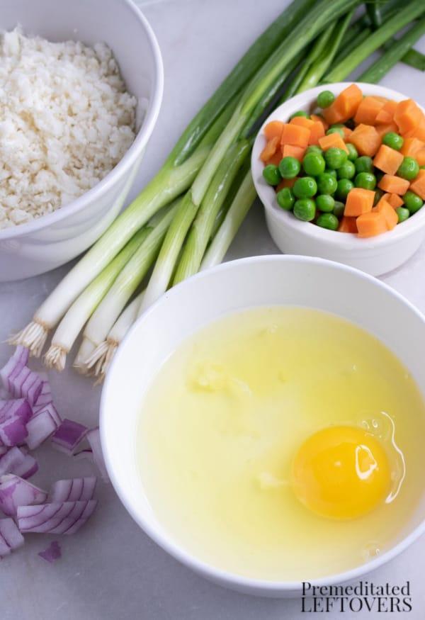 fried cauliflower rice ingredients