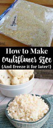 How to freeze cauliflower recipe.