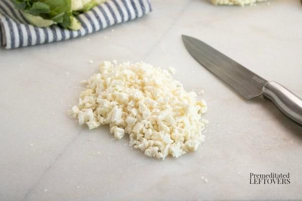 chopped cauliflower recipe