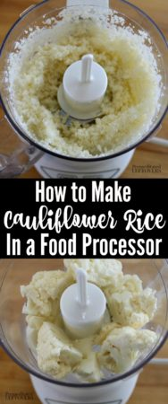 How to make cauliflower rice in a food processor.