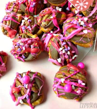 How to make rolo pretzel turtles recipe for Valentine's Day!