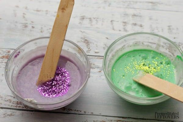 Mardi Gras Fluffy Slime Recipe