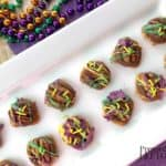 These bite-sized Mardi Gras Pretzel Turtles are an easy and festive way to add sweets to your Mardi Gras celebration. They are sweet, salty, and pretty!