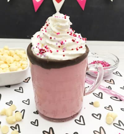 strawberry white hot cocoa recipe