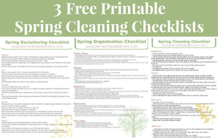 3 Free Printable Spring Cleaning Checklists