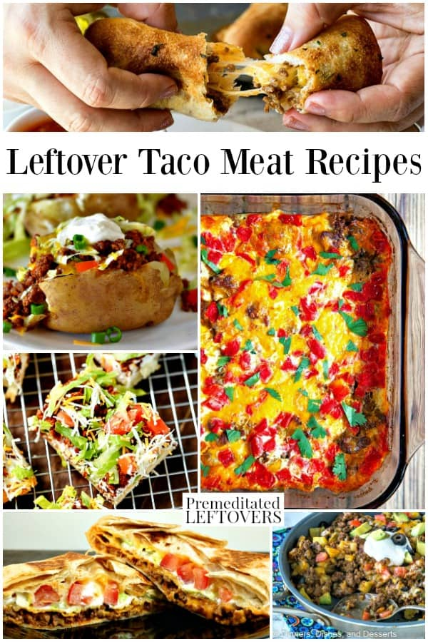 What to make out of leftover taco meat