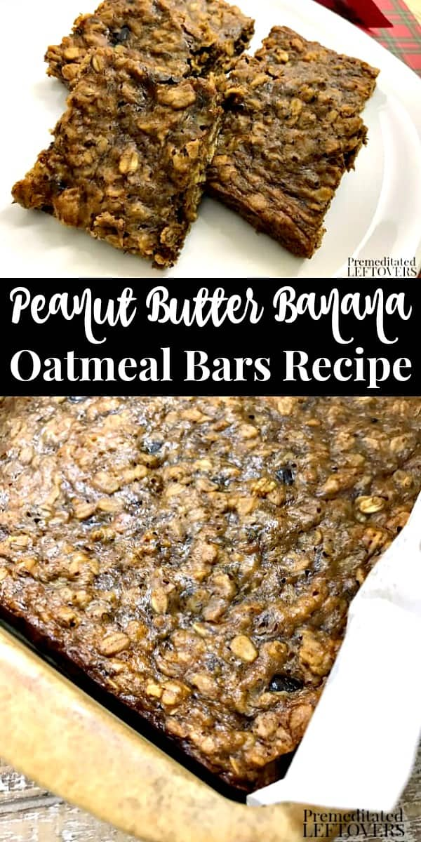 Peanut Butter Banana Oatmeal Bars Recipe