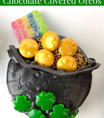 Pot of Gold Chocolate Covered Oreos