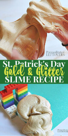 St. Patricks Day Gold Slime with Gold Glitter
