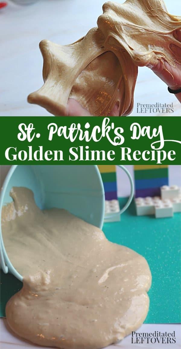 St. Patrick's Day Golden Slime Recipe