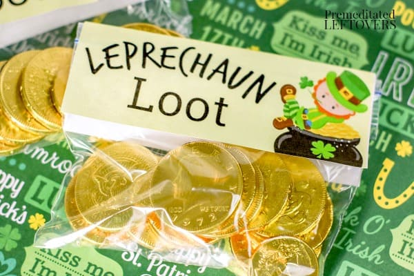 leprechaun loot goodie bag for St. Patrick's day
