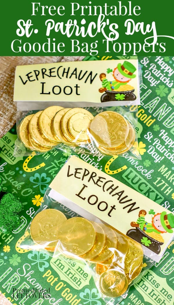 printable st. patrick's day goodie bag toppers