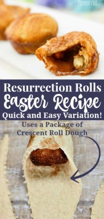 Easy resurrection rolls recipe using a package of crescent roll dough for Easter.