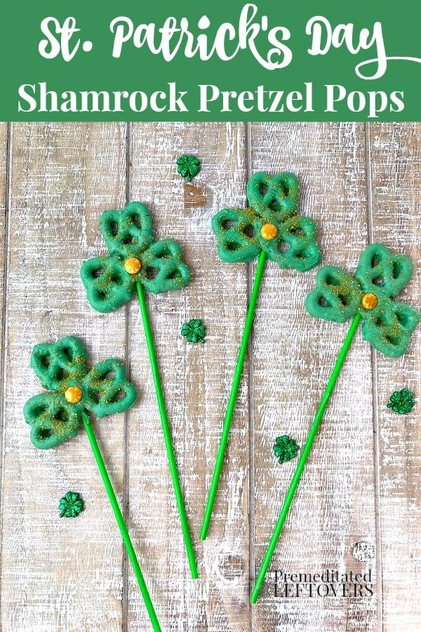 Shamrock pretzel pops recipe