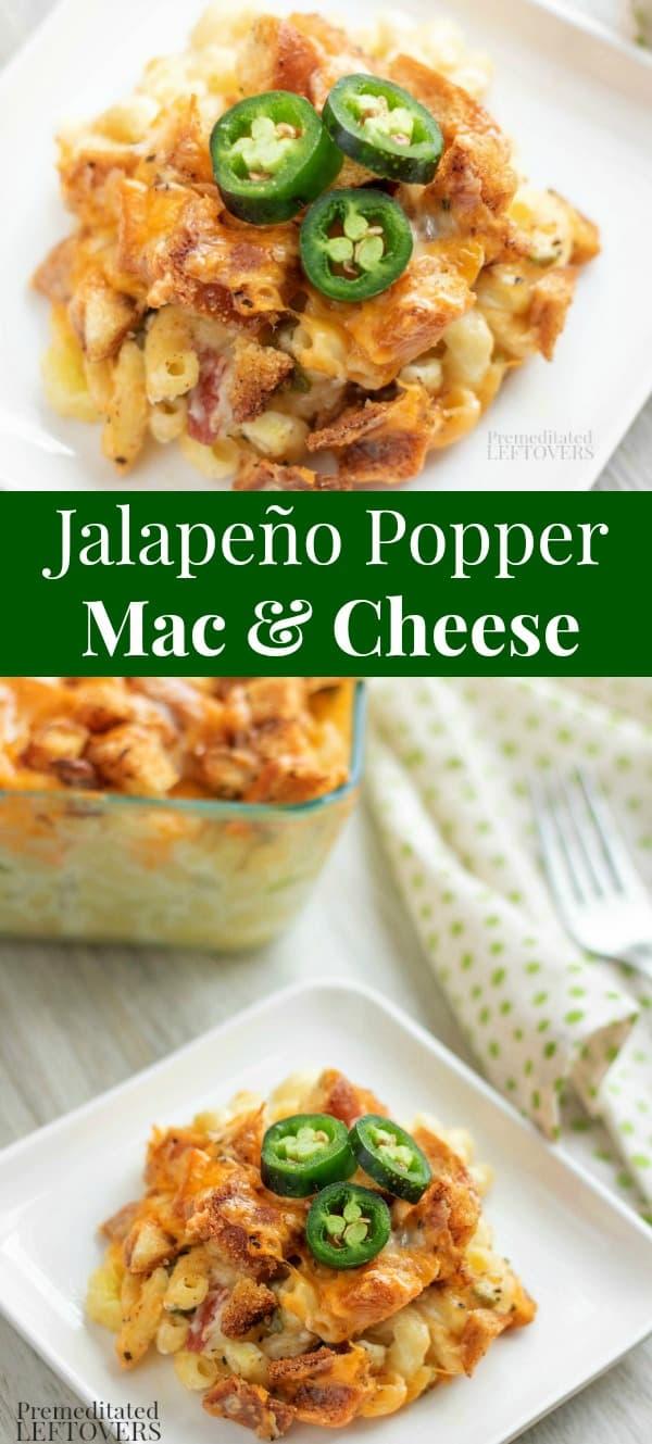 Baked Jalapeño Popper Macaroni and Cheese Recipe