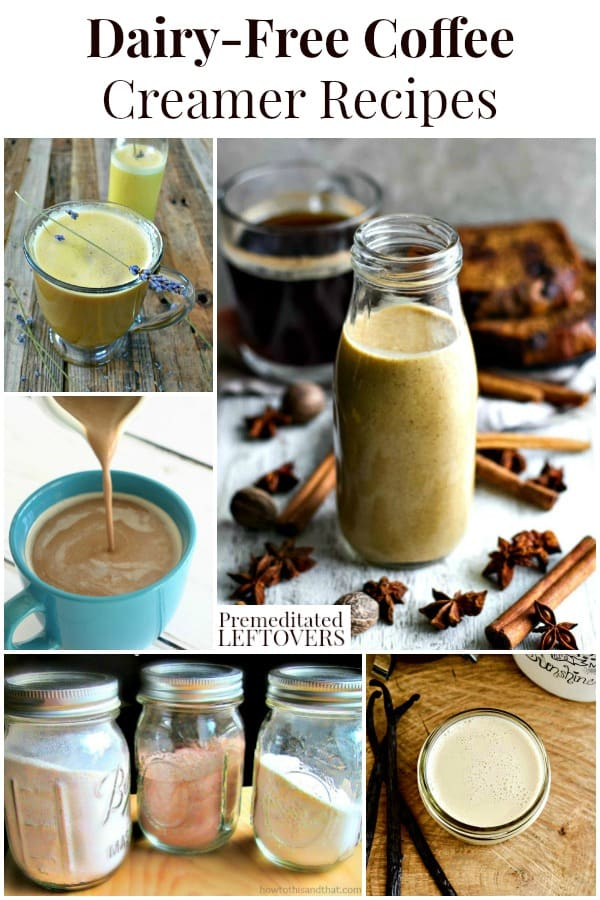 Dairy-free coffee creamer recipes