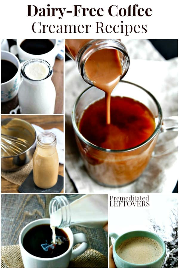 Homemade dairy-free coffee creamers