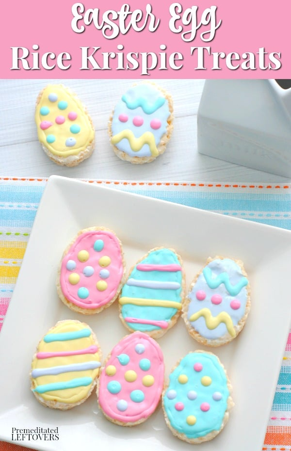 Easter Egg Rice Krispie Treats - a fun no-bake Easter dessert idea.