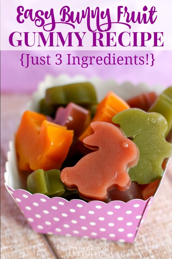 Easy bunny fruit juice gummy recipe