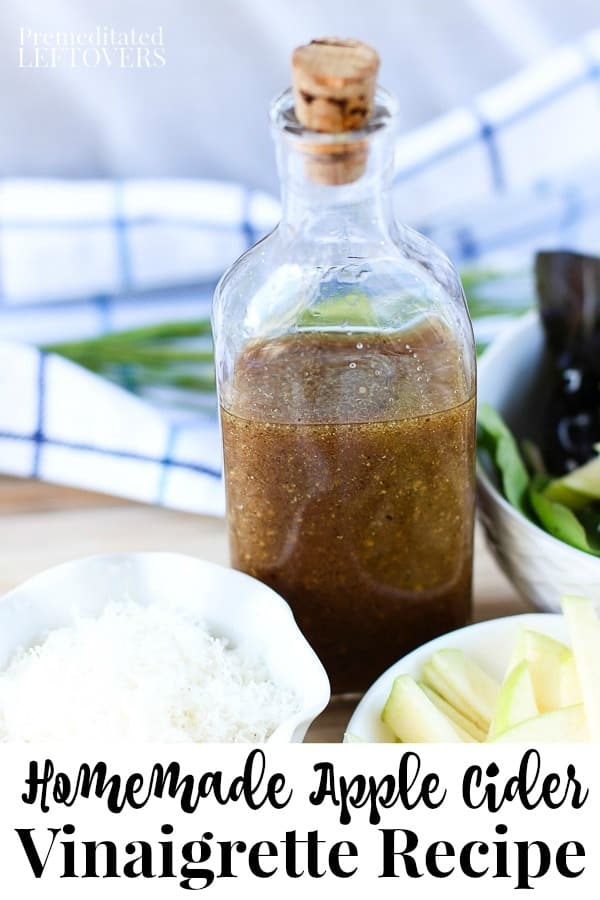 Homemade Apple Cider Vinaigrette Recipe using only 5 ingredients!