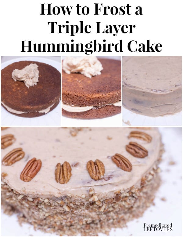 How to Frost a Triple Layer Hummingbird Cake with Cinnamon Cream Cheese Icing