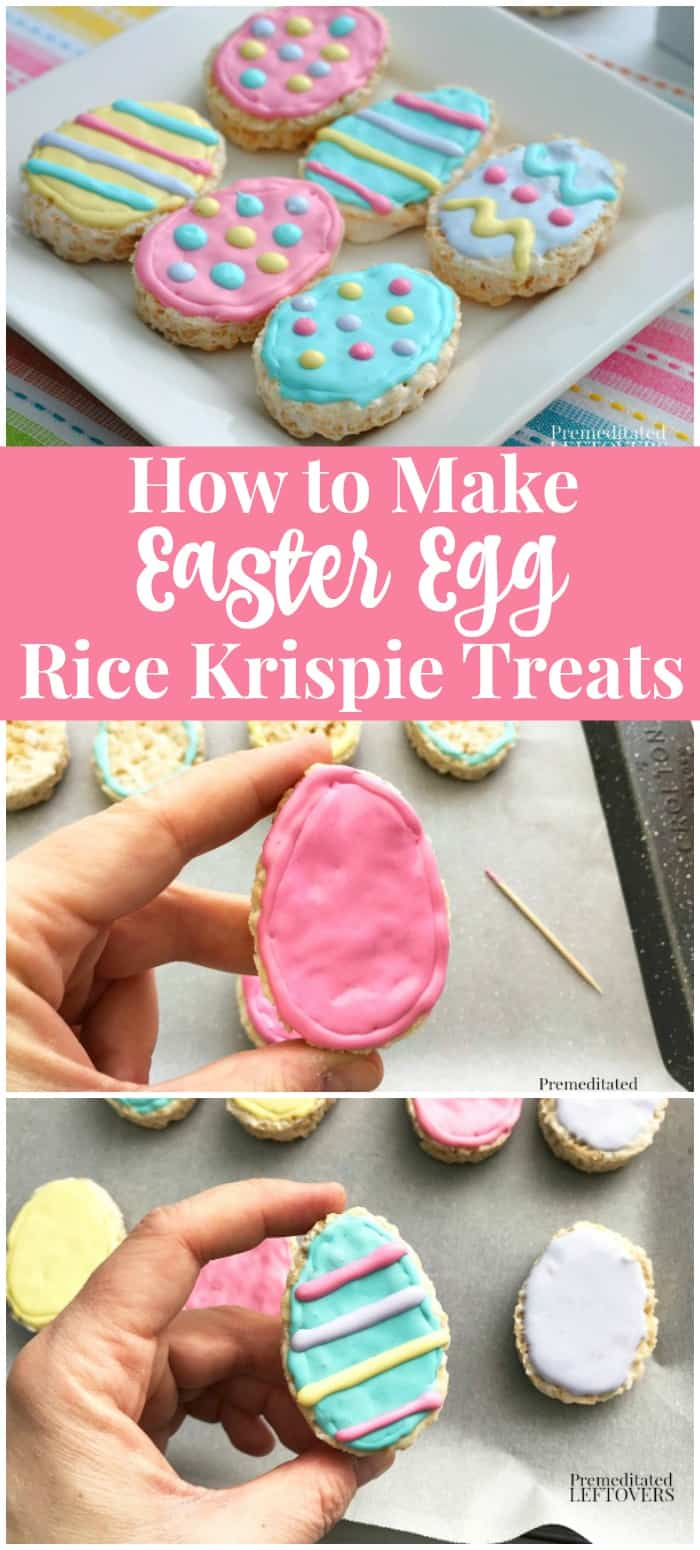 How to make Easter Egg Rice krispie Treats - Recipe and step by step tutorial