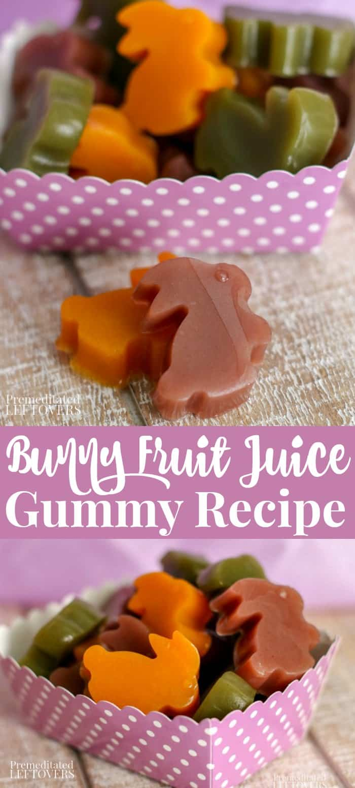 Easter Bunny Rabbit Fruit Juice Gummy Recipe