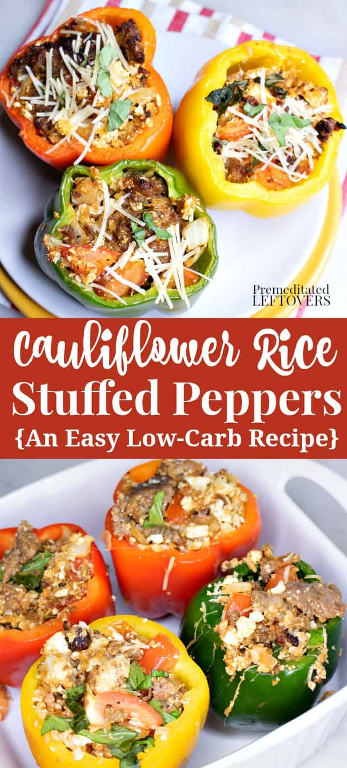Cauliflower Rice Stuffed Peppers Recipe