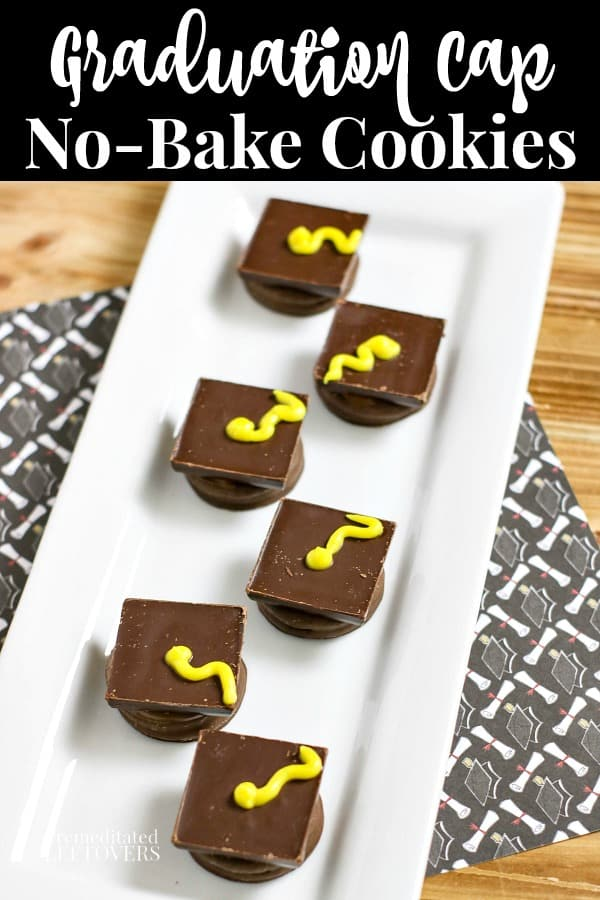 graduation cookies no-bake treat - an easy graduation dessert idea