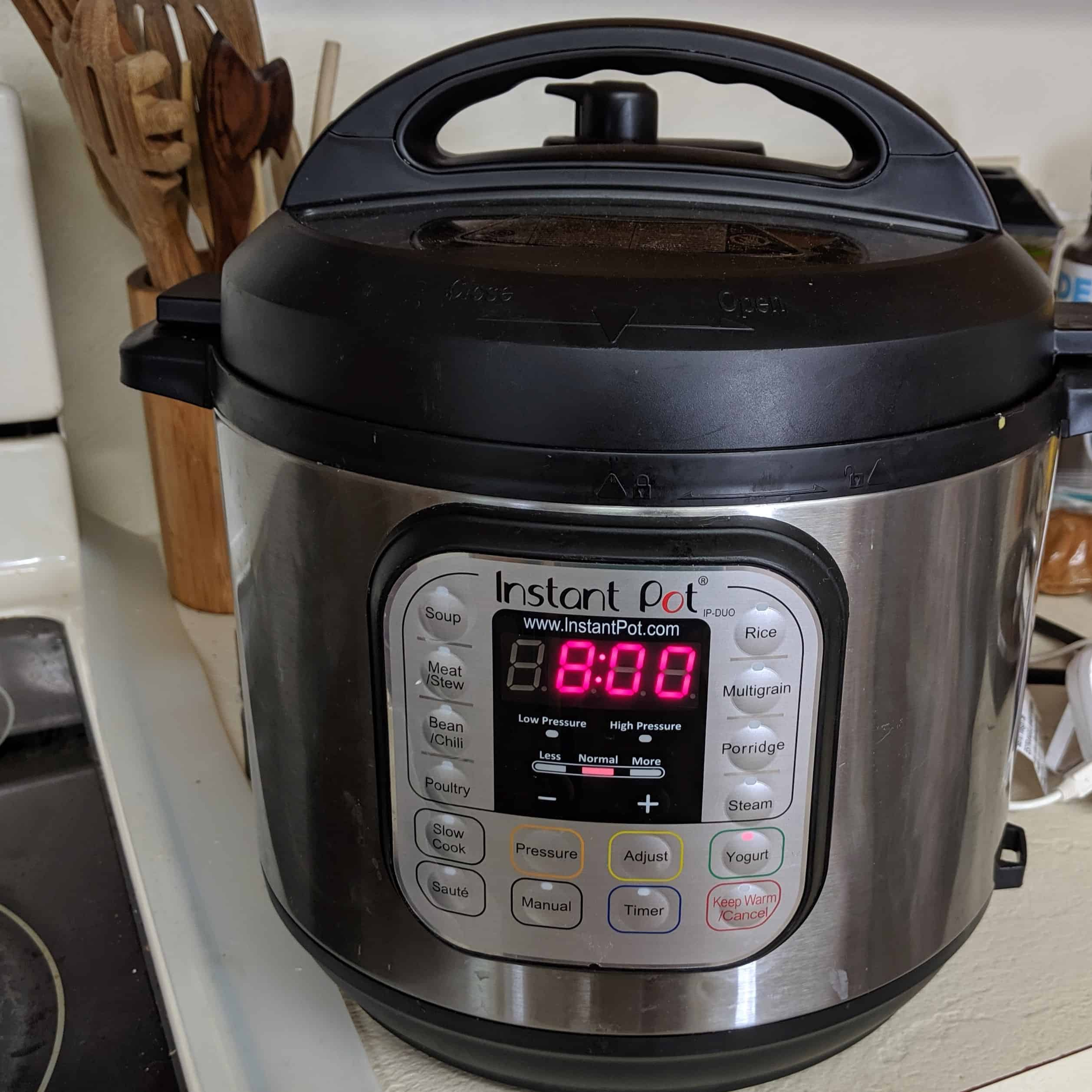 Cook yogurt in Instant Pot for a minimum of 8 hours.