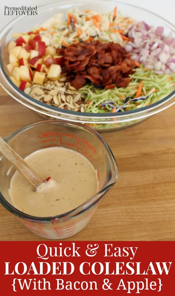 Loaded Coleslaw with Balsalmic coleslaw dressing