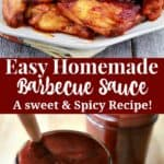 A easy homemade barbecue sauce sauce recipe - a sweet and spicy bbq sauce.
