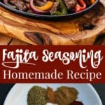 Use this fajita seasoning recipe to make a batch of fajita spice mix. Store it in a jar and keep it on hand for when you crave fajitas. Making seasoning from scratch gives you complete control over the ingredients.