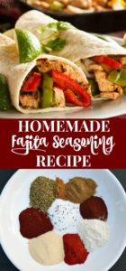 Easy homemade fajita seasoning recipe for making fajitas