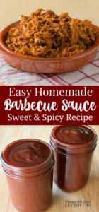 A quick and easy bbq sauce recipe sweetened with brown sugar and molasses.