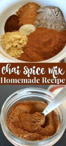 Easy homemade chai spice mix recipe.