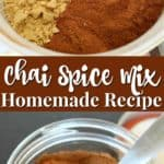 Easy homemade chai spice mix recipe.