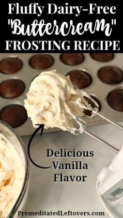 Delicious fluffy dairy-free buttercream frosting recipe!