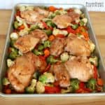 Sheet Pan Mongolian Chicken Thighs recipe
