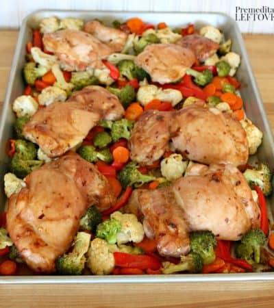 Sheet Pan Mongolian Chicken Thighs recipe