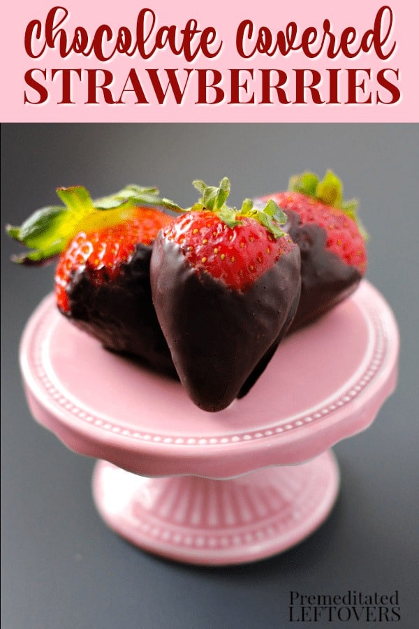 A quick and easy chocolate covered strawberries recipe using the microwave method to melt the chocolate.