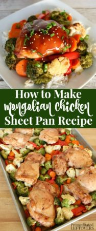 How to make Mongolian chicken on a sheet pan.