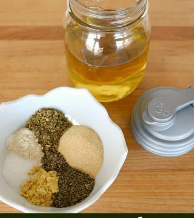 How to make Greek salad dressing ingredients.